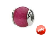 Reflections™ Sterling Silver Fuschia Quartz Stone Bead / Charm style: QRS1717