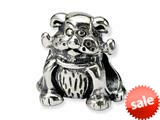 Reflections™ Sterling Silver Dog with Bone Bead / Charm style: QRS258