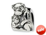 Reflections™ Sterling Silver Mama and Baby Monkey Bead / Charm style: QRS276