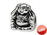 Reflections™ Sterling Silver Hear No Evil Bead / Charm style: QRS305