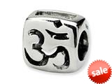 Reflections™ Sterling Silver Om Symbol Bead / Charm style: QRS313