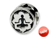 Reflections™ Sterling Silver Yoga Lotus Bead / Charm style: QRS332