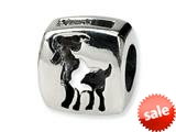 Reflections™ Sterling Silver Aries Zodiac Antiqued Bead / Charm style: QRS456