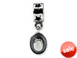 Reflections™ Sterling Silver Cowboy Hat Dangle Bead / Charm style: QRS507