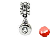 Reflections™ Sterling Silver CZ Round Dangle Bead / Charm style: QRS551