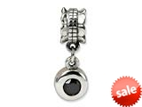 Reflections™ Sterling Silver Black CZ Round Dangle Bead / Charm style: QRS554