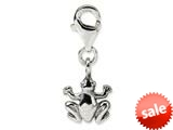 Reflections™ Sterling Silver Frog Click-on / Lobster Clasp for Bead / Charm Bracelets style: QRS571