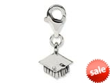Reflections™ Sterling Silver Graduation Cap Click-on / Lobster Clasp for Bead / Charm Bracelets style: QRS572CD