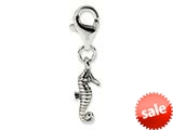 Reflections™ Sterling Silver Seahorse Click-on / Lobster Clasp for Bead / Charm Bracelets style: QRS574