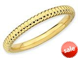 Stackable Expressions Gold Plated Sterling Silver Rice Stackable Ring style: QSK218
