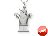 The Kids® Puffed Boy with Hat on Right Engraveable Charm / Pendant Necklace style: XK309