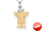 The Kids® Small Boy with Hat on Left Engraveable Charm / Pendant Necklace style: XK399