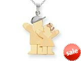 The Kids® Big Boy and Little Girl Engraveable Charm / Pendant style: XK638