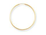 14k Yellow Gold Madi K Endless Hoop Children Earrings style: SE188