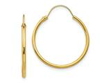 14k Yellow Gold Madi K Hoop Children Earring style: SE214