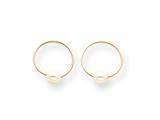 14k Madi K Endless Hoop With Cultured Pearl Children Earrings style: SE357