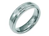 Chisel Stainless Steel Ridged Edge 6mm Polished Weeding Band style: SR102