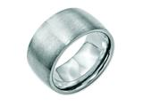 <b>Engravable</b> Chisel Stainless Steel 12mm Brushed Wedding Band style: SR112