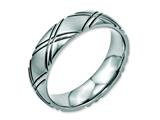Chisel Stainless Steel Criss-cross Design 6mm Brushed And Polished Weeding Band style: SR114