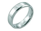 Chisel Stainless Steel Beveled Edge 6mm Polished Weeding Band style: SR12