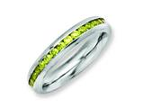 Chisel Stainless Steel 4mm November Yellow CZ Ring style: SR137