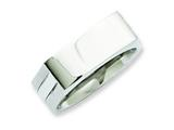 Chisel Stainless Steel 8mm Wedding Band style: SR143