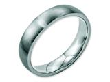 <b>Engravable</b> Chisel Stainless Steel 5mm Brushed Wedding Band style: SR15