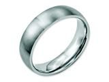 <b>Engravable</b> Chisel Stainless Steel 6mm Brushed Wedding Band style: SR16