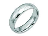 <b>Engravable</b> Chisel Stainless Steel 6mm Polished Wedding Band style: SR21