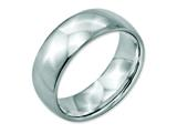 <b>Engravable</b> Chisel Stainless Steel 8mm Polished Wedding Band style: SR23