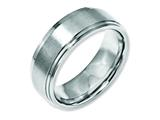 Chisel Stainless Steel Ridged Edge 8mm Brushed And Polished Weeding Band style: SR24