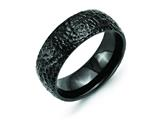 Chisel Stainless Steel Black Ip-plated Hammered 8mm Weeding Band style: SR252