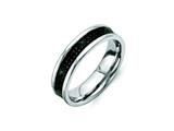 Chisel Stainless Steel Black Carbon Fiber 6mm Polished Weeding Band style: SR256