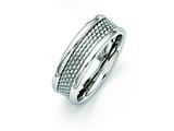 Chisel Stainless Steel Grey Carbon Fiber 8mm Polished Weeding Band style: SR259