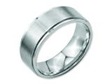 Chisel Stainless Steel Ridged Edge 8mm Brushed And Polished Weeding Band style: SR34