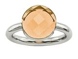 Chisel Stainless Steel Polished Champagne Glass Ring style: SR435