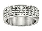 Chisel Stainless Steel Polished Studded Ring style: SR461