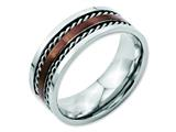 Chisel Stainless Steel Brown Ip-plated Brushed Center 8mm Polished Weeding Band style: SR49