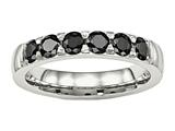 Chisel Stainless Steel Polished Black CZ 4.00mm Weeding Band style: SR523