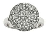 Chisel Stainless Steel Polished W/ Preciosa Crystal Circle Ring style: SR591