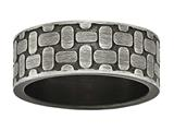 Chisel Stainless Steel Brushed Antiqued Textured Ring style: SR597