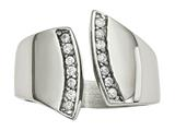 Chisel Stainless Steel Polished CZ Ring style: SR604