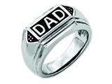 Chisel Stainless Steel Black Enamel Polished Dad Wedding Band style: SR82