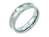 Chisel Stainless Steel Concave Beveled Edge 6mm Brushed/polished Weeding Band style: SR89