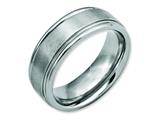 Chisel Stainless Steel Ridged Edge 8mm Brushed And Polished Weeding Band style: SR90