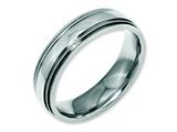 Chisel Stainless Steel Grooved And Beaded 6mm Polished Weeding Band style: SR95