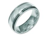 Chisel Stainless Steel Grooved And Beaded 8mm Polished Weeding Band style: SR96