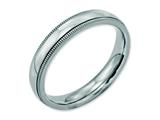 Chisel Stainless Steel Grooved And Beaded 4mm Polished Weeding Band style: SR97