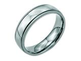 Chisel Stainless Steel Grooved And Beaded 6mm Polished Weeding Band style: SR98
