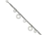 Chisel Stainless Steel Polished Circles and Discs 7.75in Bracelet style: SRB1021775